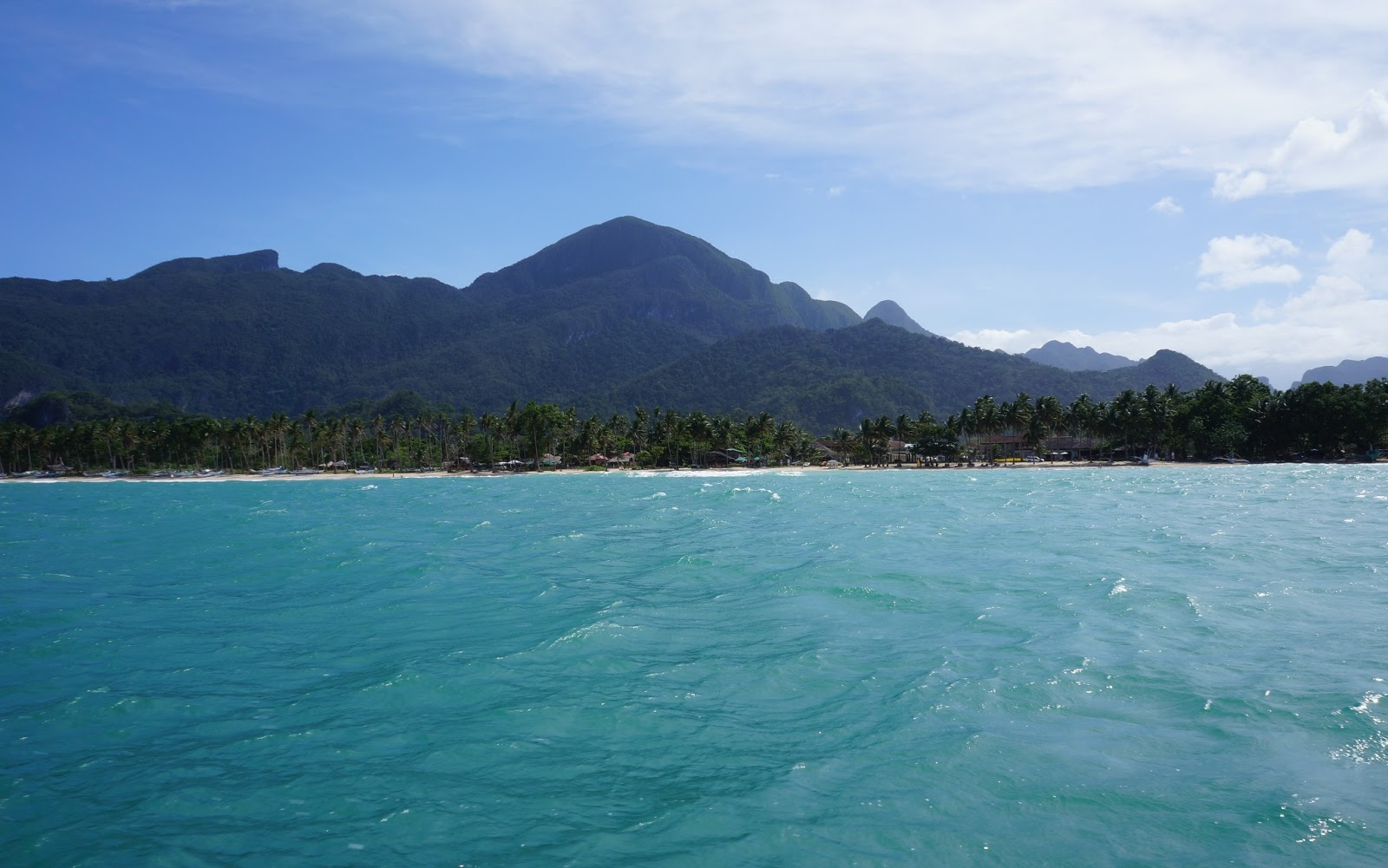 by boat to Puerto Princesa Underground River