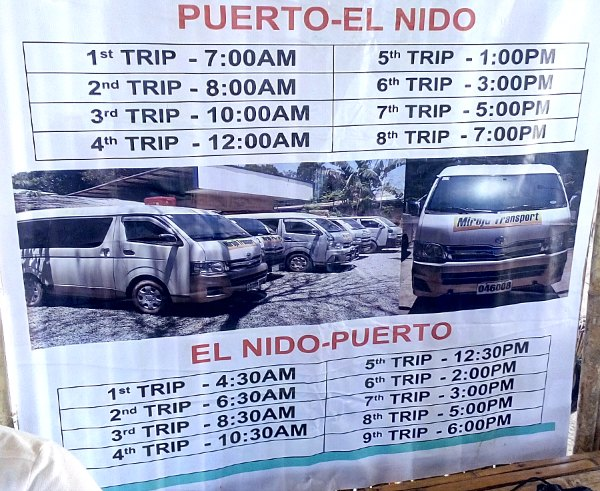 522b24e506 transfers from airport puerto princesa to el nido. Trip insurance! Now on  site  1