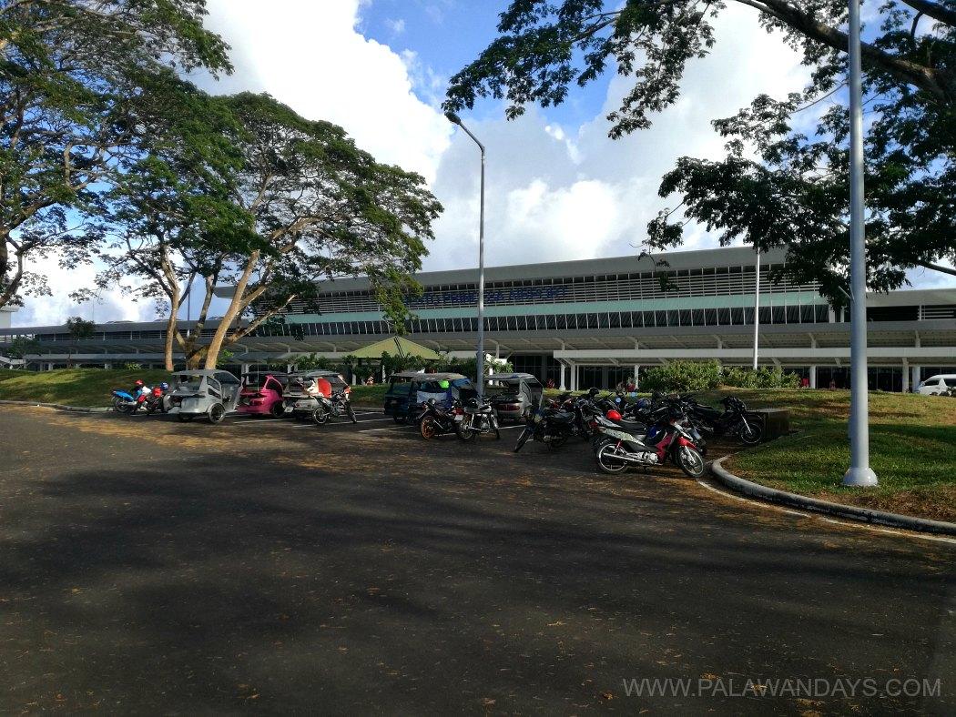 motorbike parking in puerto princesa international airport